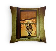 Potted Plant In Window Throw Pillow