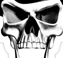 Crazy Cop Skull Sticker