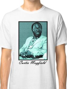 Curtis Mayfield blue Classic T-Shirt
