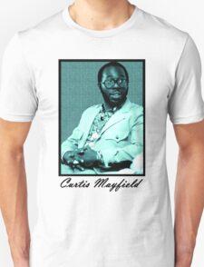 Curtis Mayfield blue T-Shirt