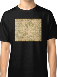 'Peonies' by Alphonse Mucha (Reproduction) Classic T-Shirt