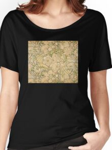 'Peonies' by Alphonse Mucha (Reproduction) Women's Relaxed Fit T-Shirt