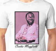 Curtis Mayfield Purple Unisex T-Shirt