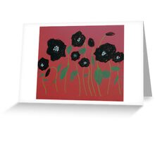 Black Poppies Greeting Card