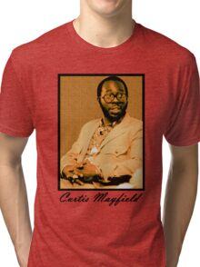 Curtis Mayfield Orange Tri-blend T-Shirt