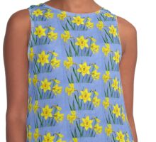 Yellow Daffodils Watercolor Contrast Tank