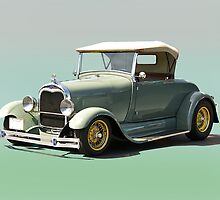 1929 Ford Model A Roadster by DaveKoontz