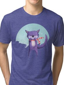 MINXY CAT (WINTER) Tri-blend T-Shirt