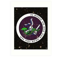 Jiu-Jitsu - Alien Vs Astronaut Art Print