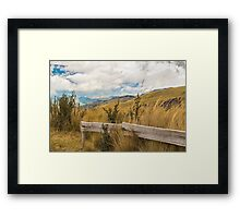 Trekking Road at Andes Range in Quito Ecuador  Framed Print