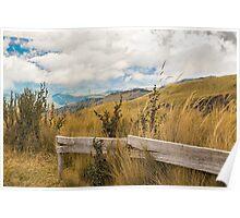 Trekking Road at Andes Range in Quito Ecuador  Poster