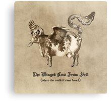 The Winged Cow From Hell Metal Print