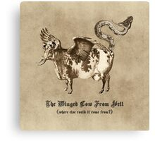 The Winged Cow From Hell Canvas Print