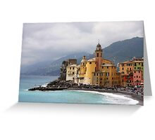 Italian Fishing Village Greeting Card