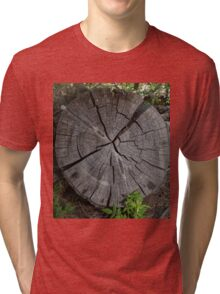 Dried out tree trunk Tri-blend T-Shirt