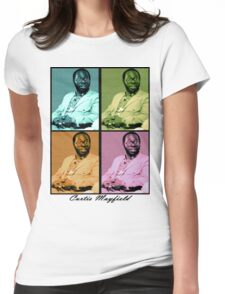 Curtis Mayfield Quatro Womens Fitted T-Shirt
