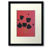 Black Tulips Framed Print