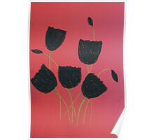 Black Tulips Poster