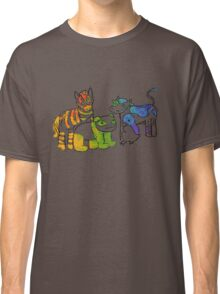 Black and White and Rainbow All Over Classic T-Shirt