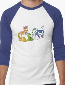 Black and White and Rainbow All Over Men's Baseball ¾ T-Shirt