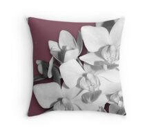 Pretty in Pink, Orchid Photography Art Throw Pillow
