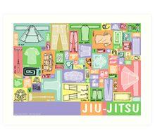 Jiu-Jitsu Gear Layout Art Print