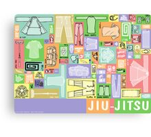 Jiu-Jitsu Gear Layout Canvas Print