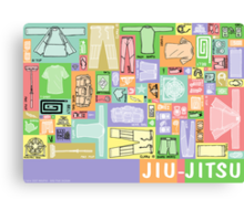 Jiu-Jitsu Gear Layout Canvas Print