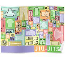 Jiu-Jitsu Gear Layout Poster
