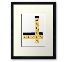 Lydia Martin | Scrabble Framed Print