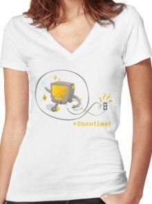 Mettaton: Showtime! Women's Fitted V-Neck T-Shirt
