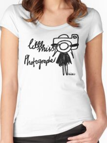 Little Miss Photographer Women's Fitted Scoop T-Shirt