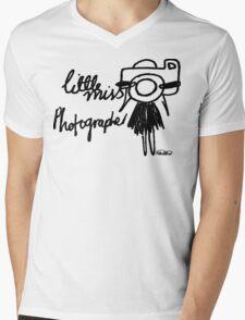 Little Miss Photographer Mens V-Neck T-Shirt