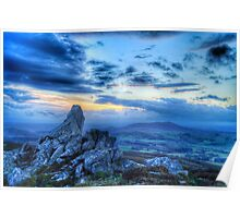 Ancient and magical Shropshire Hills.  Poster