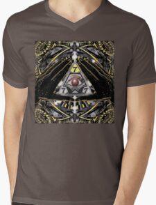 YELLOW ILLUMINATION 777 Mens V-Neck T-Shirt