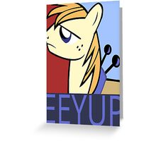 Eeyup Design Greeting Card