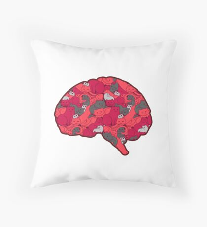 This is your brain...on CATS! Throw Pillow