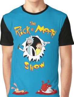 The Rick & Morty Show Featuring Ren & Stimpy Graphic T-Shirt