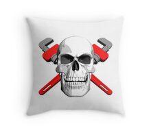 Plumber Skull Throw Pillow