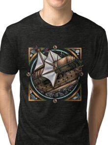Steampunk Airship 'The Siren' by Bobbie Berendson W Tri-blend T-Shirt
