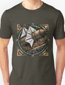 Steampunk Airship 'The Siren' by Bobbie Berendson W Unisex T-Shirt