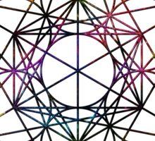 Metatron's Cube on White Sticker