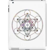 Metatron's Cube on White iPad Case/Skin
