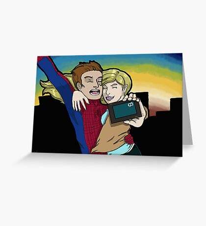 Gwen and Spidey Greeting Card