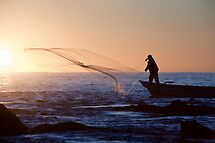Sunrise Fisherman by phil decocco
