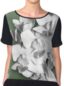 A bit of Green, Orchid Photography Art Chiffon Top