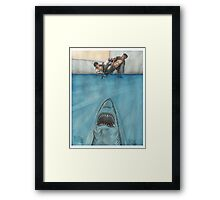 JITS - Mat is Ocean - UNLETTERED Framed Print