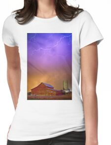 Colorful Country Storm Womens Fitted T-Shirt