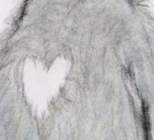 PENGUING HEART ART BIRTHDAY CHRISTMAS Sticker