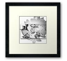 Artistic Black and White Orchid Photography  Framed Print